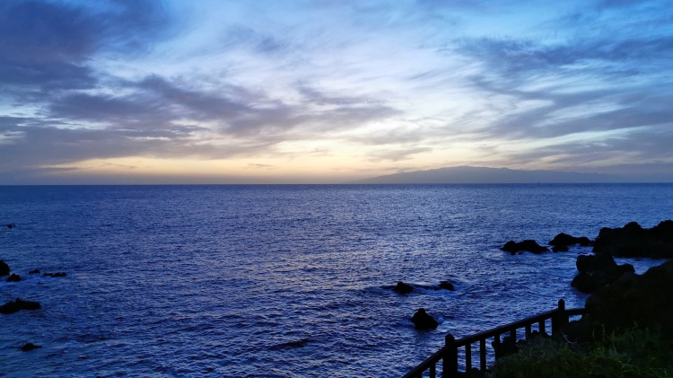 sea view blue evening sunset